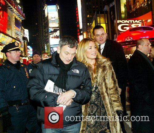 Arrives in Times Square for 'The 100th Anniversary...