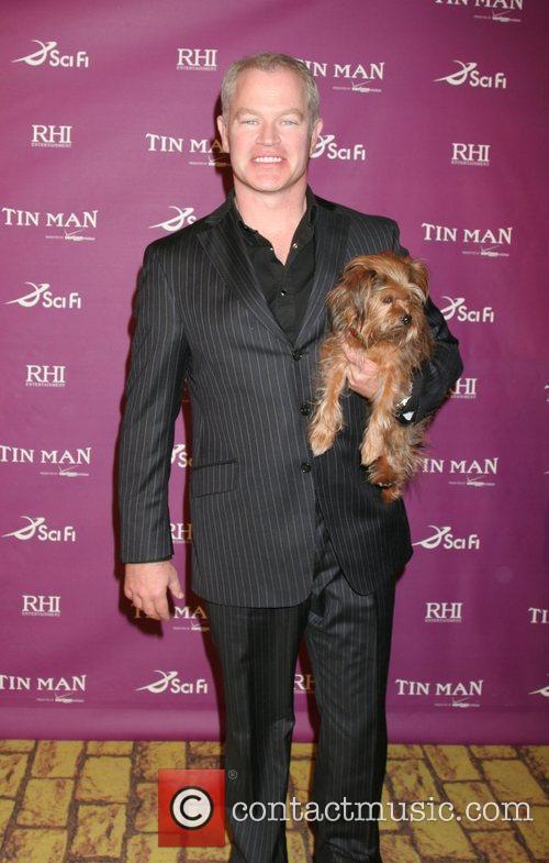 Neal McDonough and Baxter 'Tin Man' premiere at...