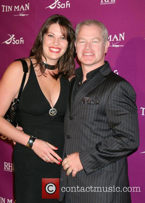 Neal McDonough and guest 'Tin Man' premiere at...