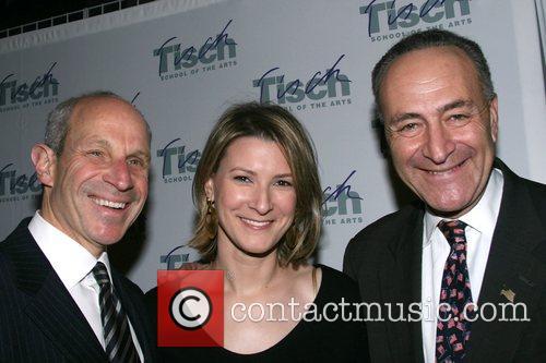 Senator Chuck Schumer, Jonathan Tisch and wife Tisch...
