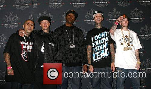 Travis Barker and Guest T-Mobile Sidekick LX Launch...