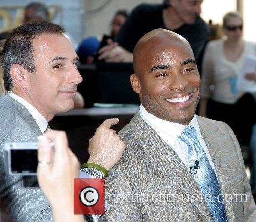 Matt Lauer and Tiki Barber at The Today...