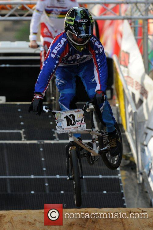 Representatives of the newest Olympic sport, BMX biking,...