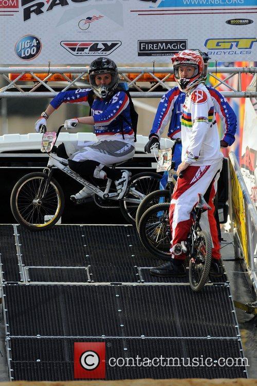Representatives of the newest Olympic sport, BMX biking,...