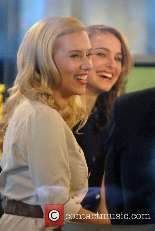 Scarlett Johansson and Natalie Portman at NBC Studios...