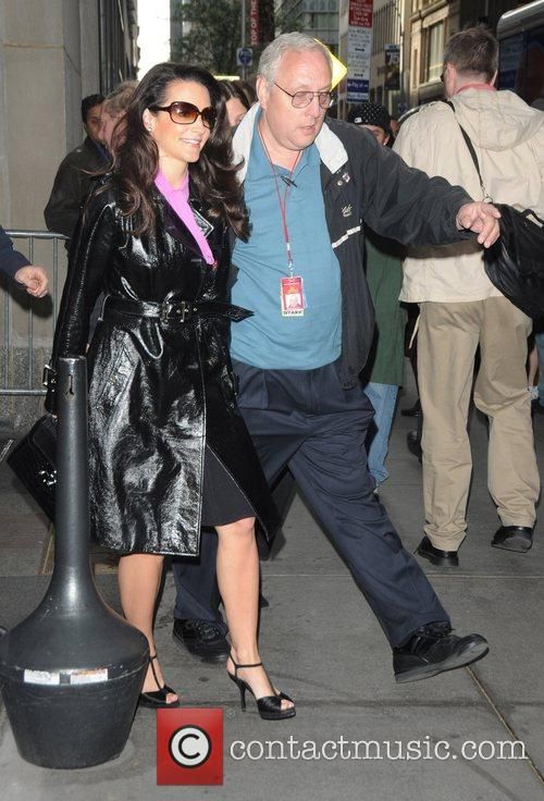 Kristin Davis Celebrities arriving at 'The Today Show'...
