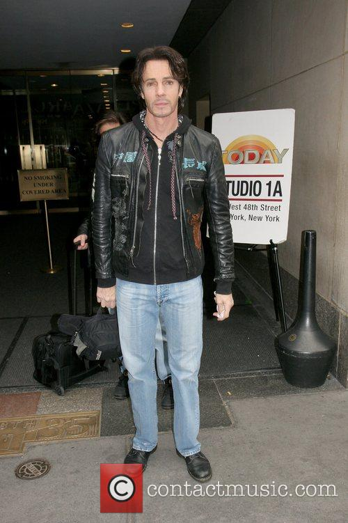 Rick Springfield at Rockefeller Plaza after his appearance...