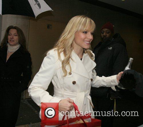 Kristen Bell at Rockefeller Plaza for an appearance...
