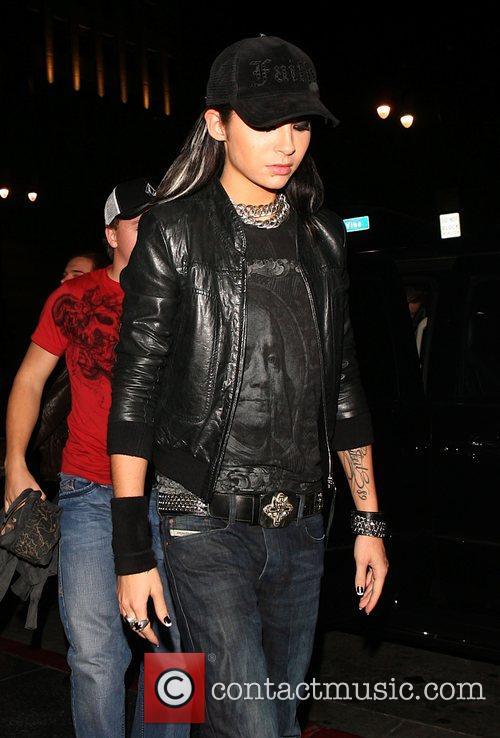 Tokio Hotel arrive at Katsuya restaurant Los Angeles,...