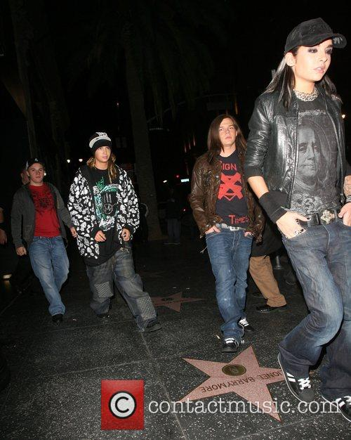 Tokio Hotel leaving Katsuya restaurant Los Angeles, California