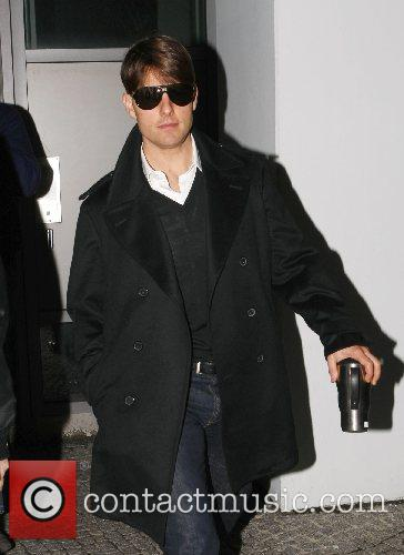 Tom Cruise leaving the production office for the...