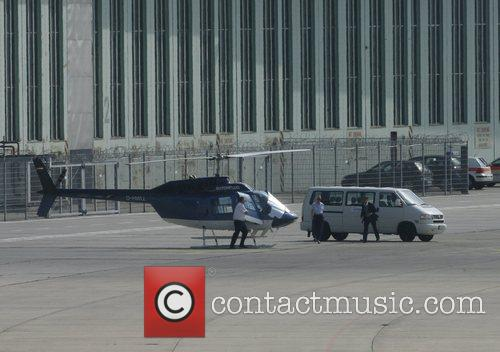 Tom Cruise arrives at Berlin's city airport Tempelhof...