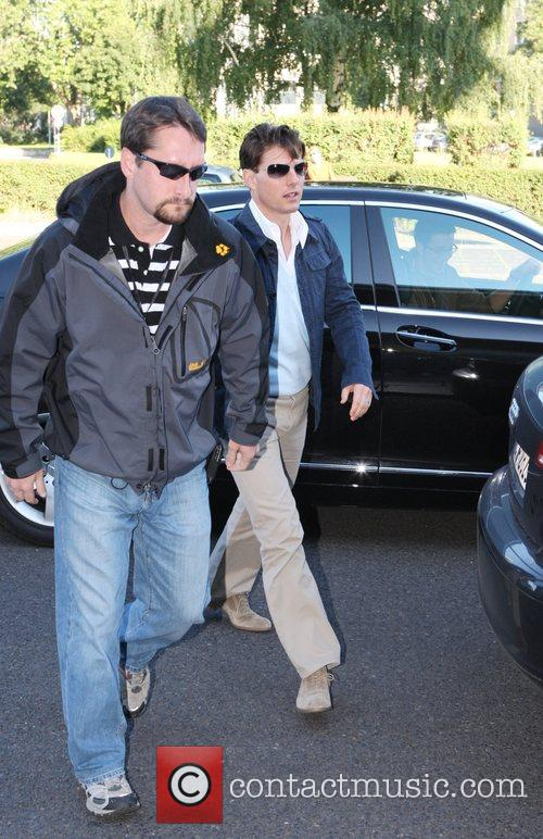 Tom Cruise arriving at Tempelhof airport. The Hollywood...