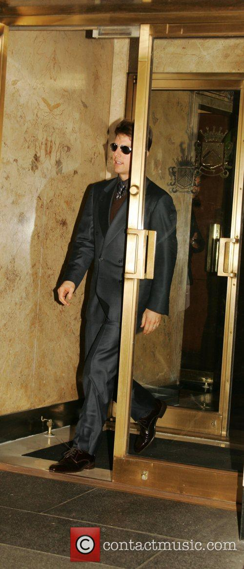Leaving his Manhattan hotel