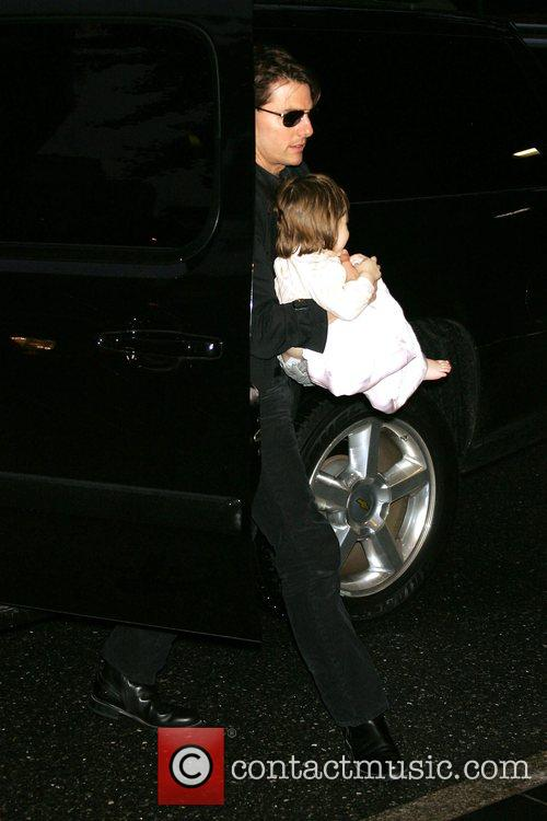 Tom Cruise and daughter Suri Cruise outside their...
