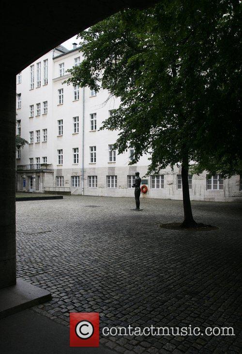 Bendlerblock courtyard where Claus Graf von Stauffenberg was...