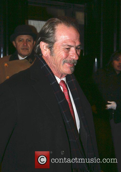 Tommy Lee Jones at his hotel in Manhattan