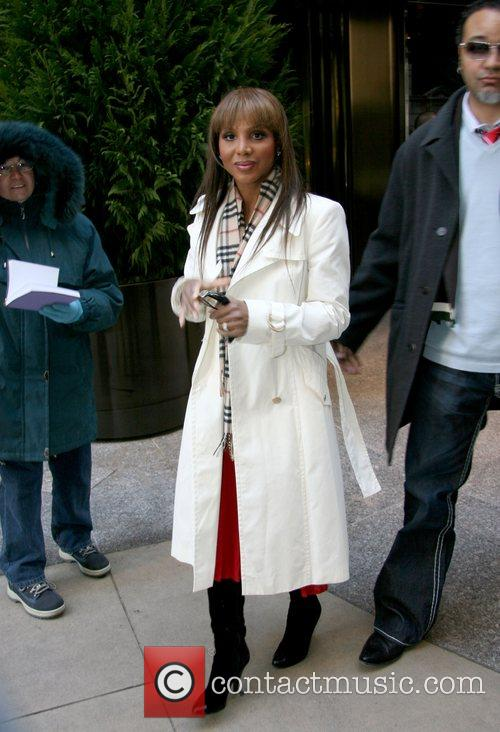 Toni Braxton leaving her hotel New York City,...