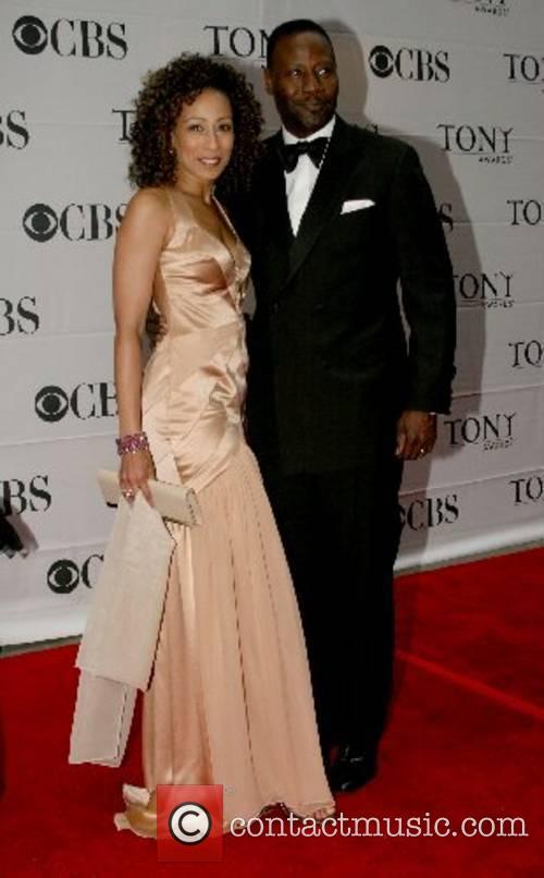 Tamara Tunie and guest 2007 Tony Awards held...