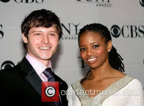Montego Glover and guest 2007 Tony Awards held...