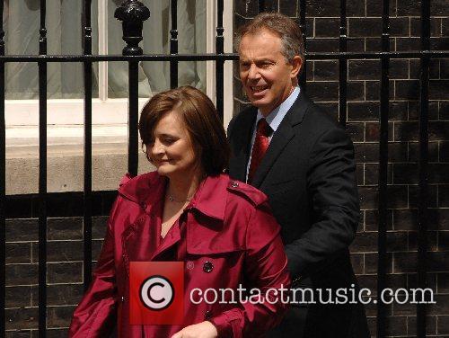 PM Tony Blair and Cherie Blair heading to...