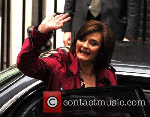 Cherie Blair PM Tony Blair heads to Buckingham...