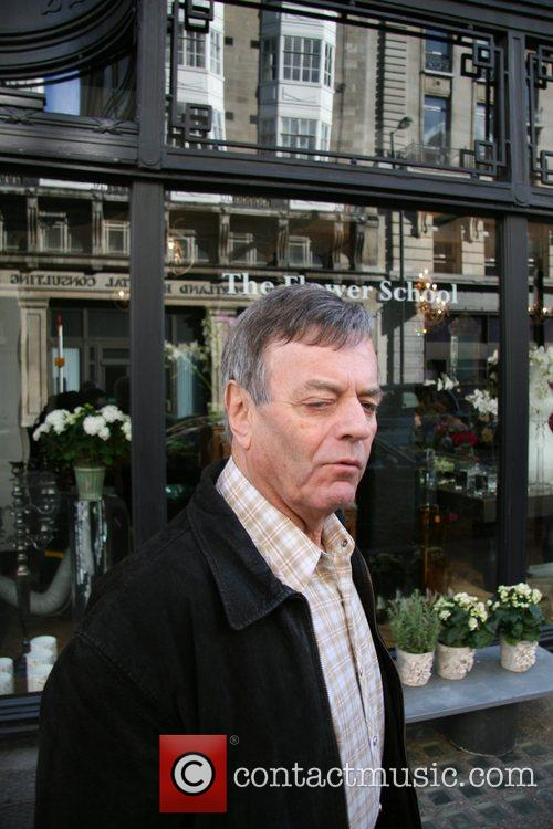 Tony Blackburn outside the BBC studios