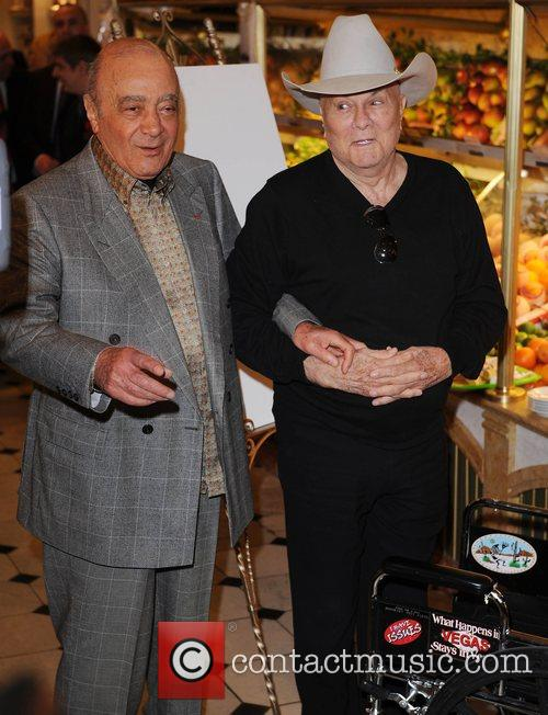 Tony Curtis visits Harrods department store to promote...