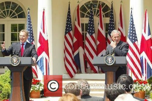 Tony Blair and George W Bush Prime Minister...