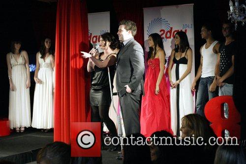 Kate Mac and contestants onstage during the Australia's...