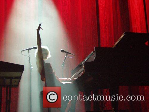Tori Amos performing at Madison Square Garden as...