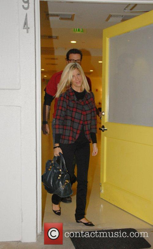 Tori Spelling and Dean McDermott leaving Byron Williams...