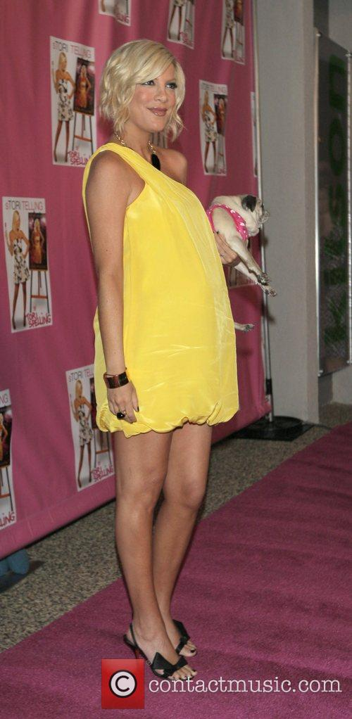 Heavily pregnant Tori Spelling at the launch of...