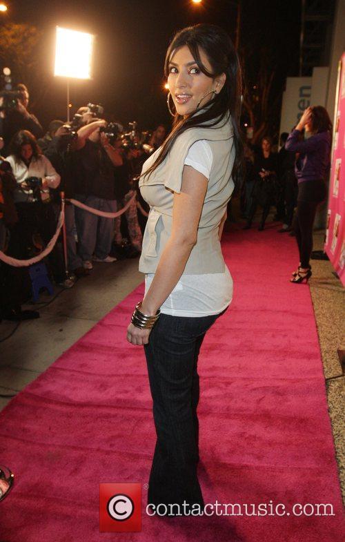Kim Kardashian at the launch of Tori Spelling's...