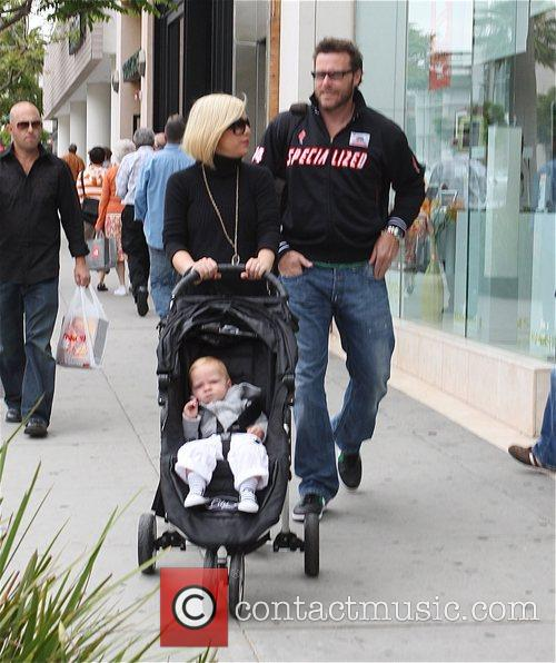 Tori Spelling, Dean McDermott , and son Liam...