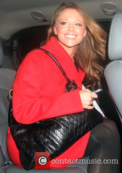 Kimberley Walsh of Girls Aloud, leaving the Riverside...