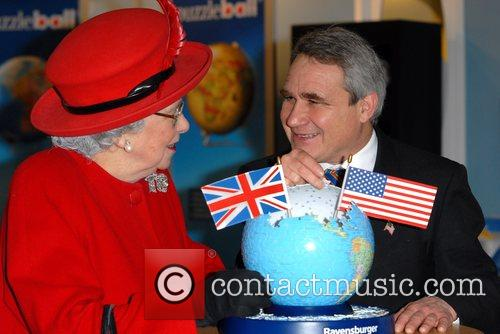 Queen Elizabeth II and George W.Bush lookalikes promoting...