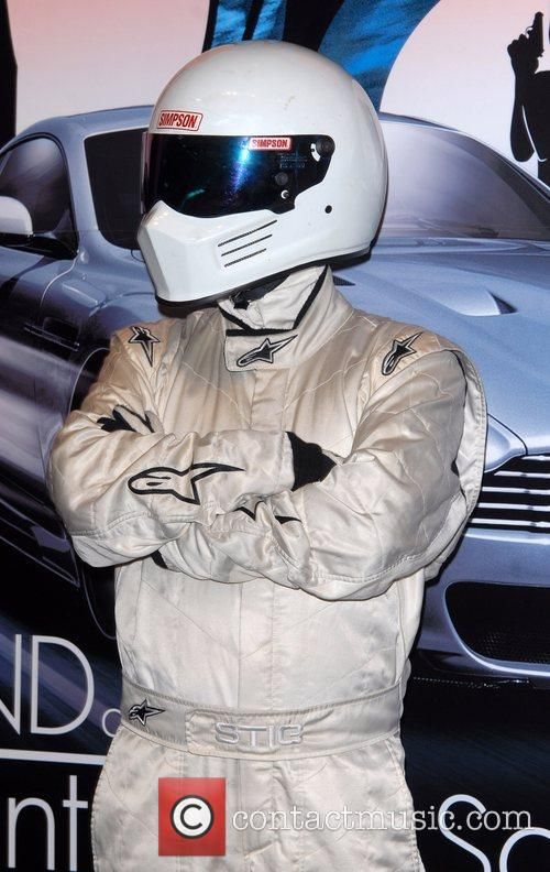 The Stig  promoting the new Top Gear...