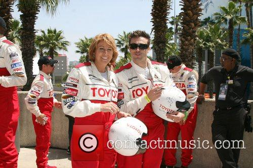 Daniel Goddard and Nancy Lieberman Toyota Long Beach...