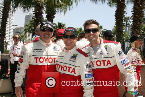 Mike Skinner, Brad Lewis and Daniel Goddard Toyota...