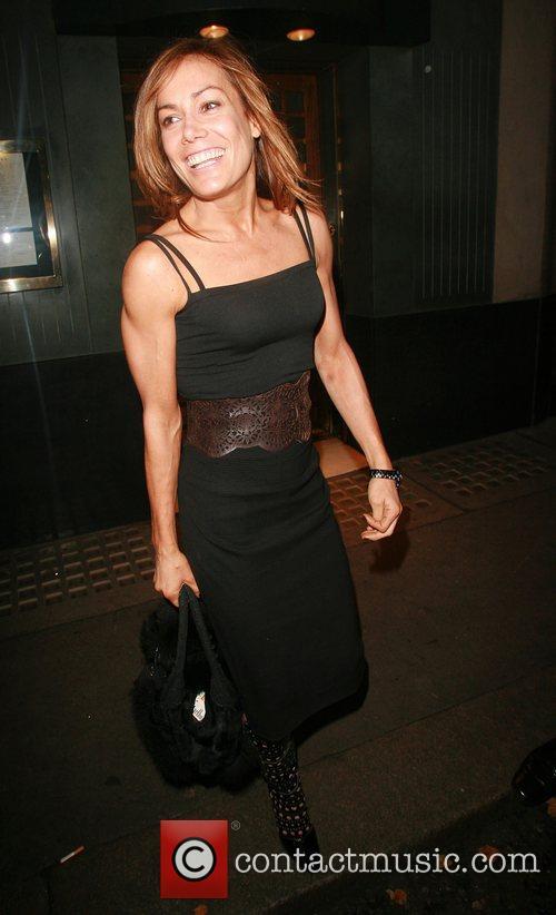 Tara Palmer-Tomkinson at the Ivy restaurant London, England