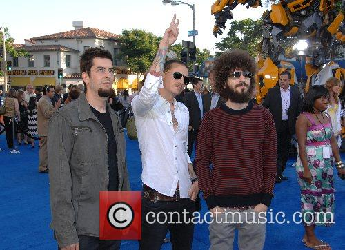 Linkin Park Los Angeles premiere of 'Transformers' held...