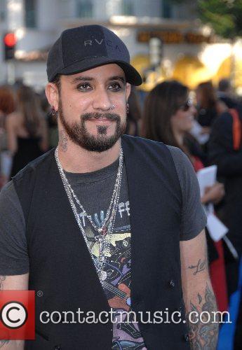 A.J. McLean Los Angeles premiere of 'Transformers' held...