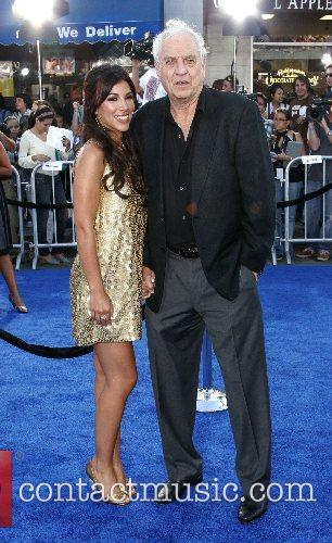 Adriana Costa and Gary Marshall Premiere of 'Transformers'...