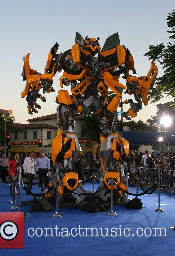 Bumbull Bee Transformer Premiere of 'Transformers' held at...