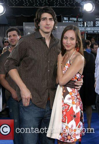 Brandon Routh and fiance Courtney Ford Premiere of...