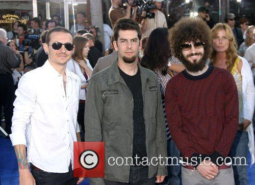 Linkin Park Premiere of 'Transformers' held at the...