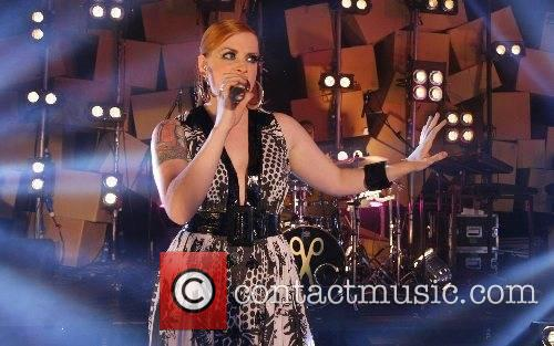 Ana Matronic of The Scissor Sisters performing on...