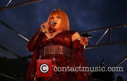 Beth Ditto of The Gossip performing on Transmission...