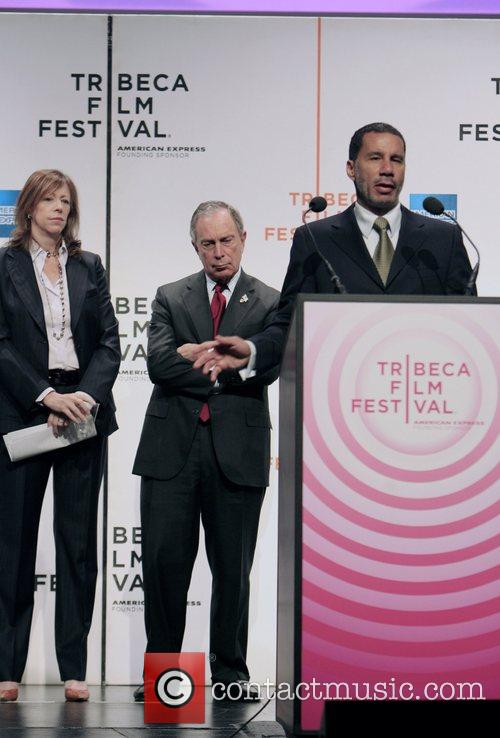 Jane Rosenthal, Mayor Bloomberg and Governor David Patterson...